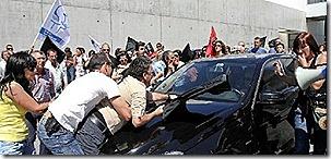 Ministro Álvaro apupado na Covilhã (img.RTP).Jun2012