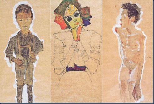 Joven proletario, Chica con gafas de sol y Joven desnudo