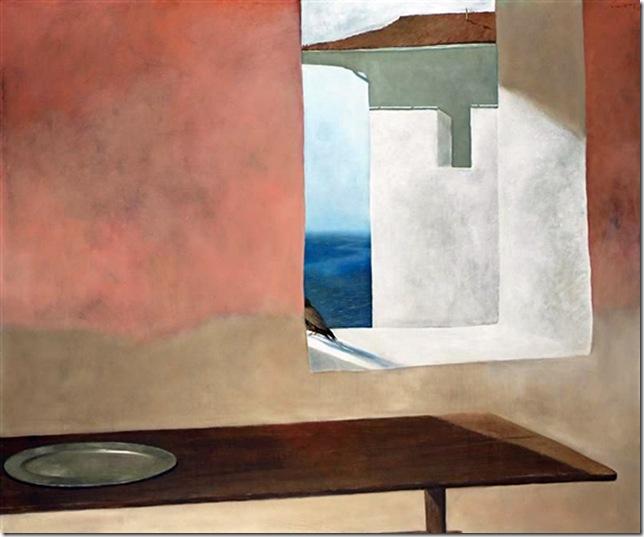 Julio Larraz - VIEW OF THE GULFSTREAM.