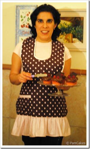Delantal topos Pam Cupcakes
