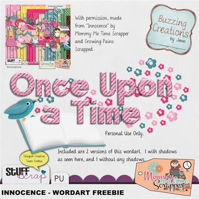 Mommy Me Time Scrapper - Innocence - Wordart preview