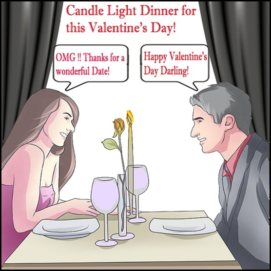 Candle Light Dinner for this valentine's day