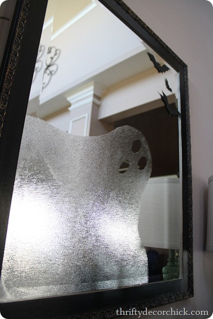 Halloween ghost with contact paper