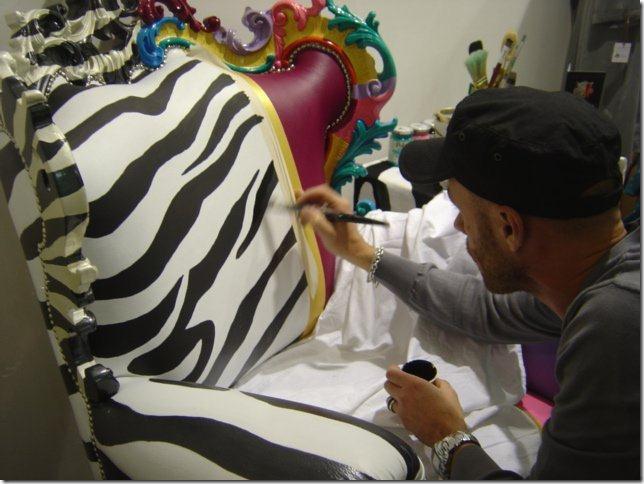 Frohlig Farbenfroher Designer Armlehnsessel Fuiano