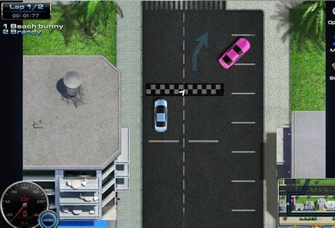 Juego de coches para Facebook