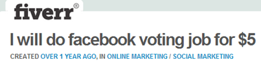 facebook voting job