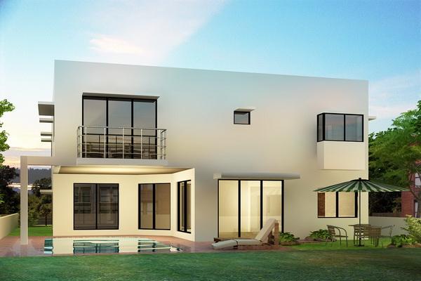 Fachadas de casas modernas de una planta imagui for Fachada minimalista una planta