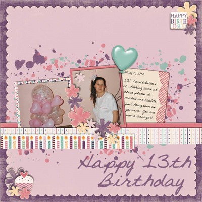 Piccolina Designs - My Favorite Day - 13th Birthday