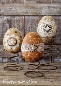 Easter decoration - Eggs on Rusty Springs