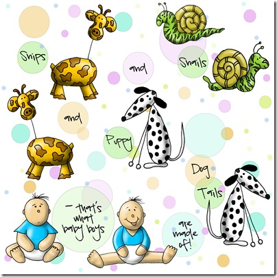 Spoonflower - Snips and Snails copy