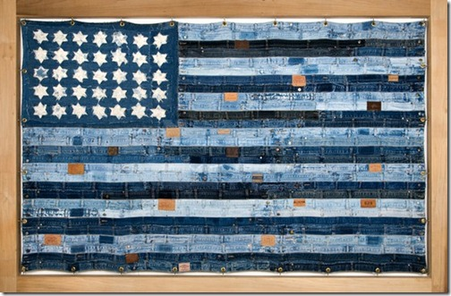 blue american flag via prepfection tumblr