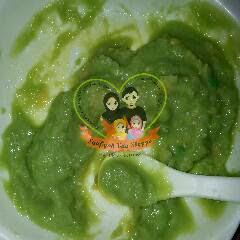 chick peas dan green peas dijadikan puri
