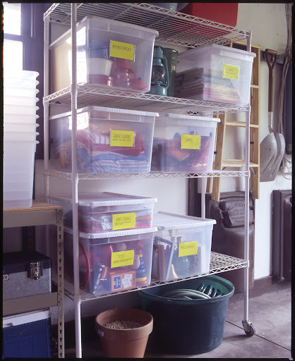 If you have the space in the basement or garage, set up a system for sorting items year round.  Once a bin is full, donate it.