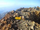 Hiking club sign at the top of Rinjani (Dan Quinn, November 2013)