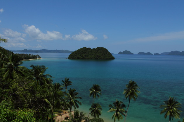 Scenic Corong Corong Bay view of Palawan