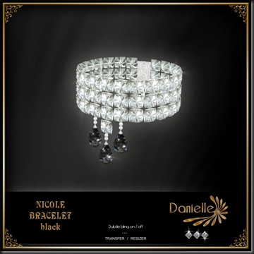 DANIELLE Nicole Bracelet Black'