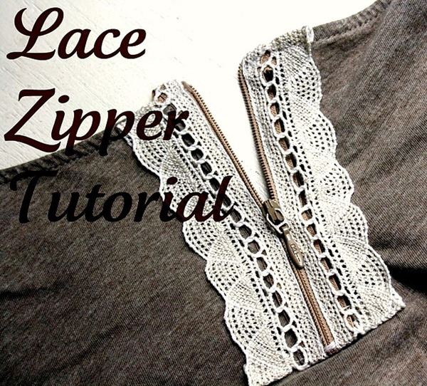 lace zipper tutorial