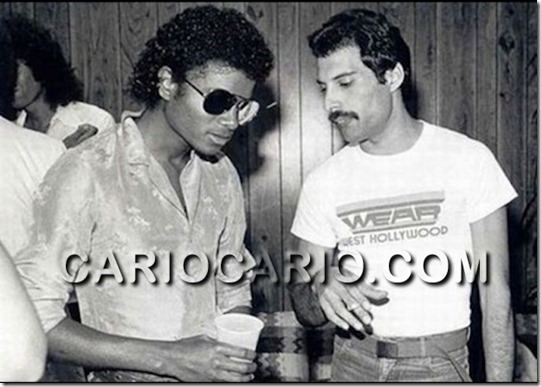 Michael Jackson e Freddy Mercury