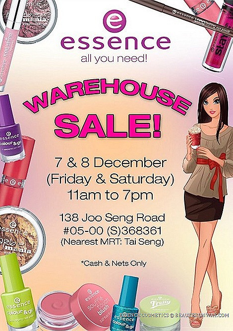 Essence Cosmetics Warehouse SALE Singapore 2012 cosmetics, eyeshadows mascaras, powder, concealers, blushers, lipsticks, lipgloss, nail polishesTrend Editions Ballerina, Circus Circus, Fruity Marble Mania Collection WATSONS