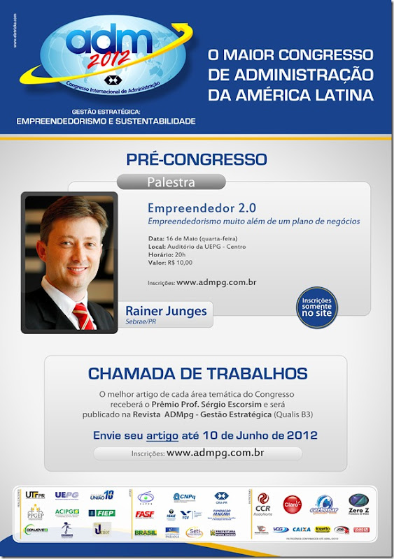 Cartaz ADM 2012 - Chamada de Trabalhos e Pré Congresso1
