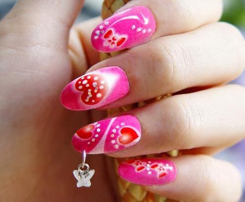Hot Pink Nail Designs Nail Designs Hair Styles Tattoos And
