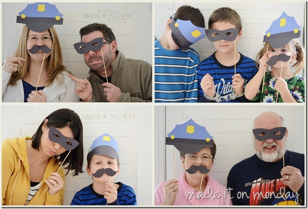 Police Birthday Party Photo Booth