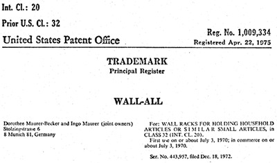 Wall-all trademark