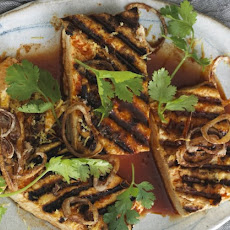 Grilled Tofu with Crispy Shallots