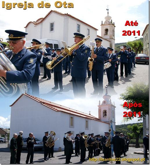 Igreja de Ota - Antes e após 2011
