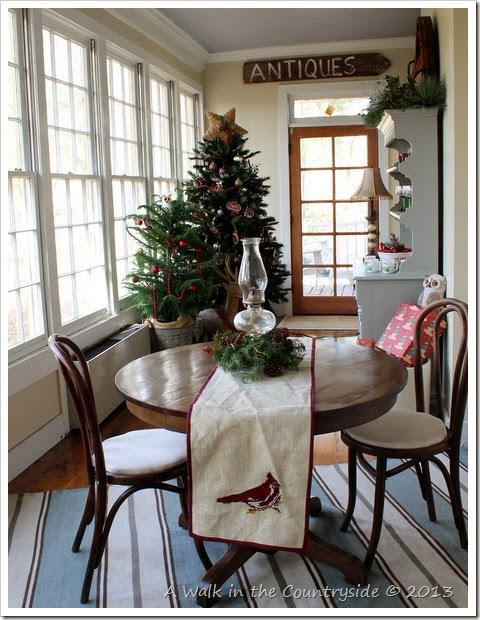 woodland christmas in the sunroom