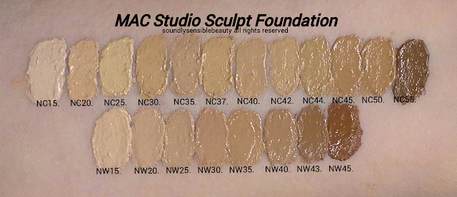 MAC Foundation Swatches of Shades & Full Cover Studio Sculpt Review