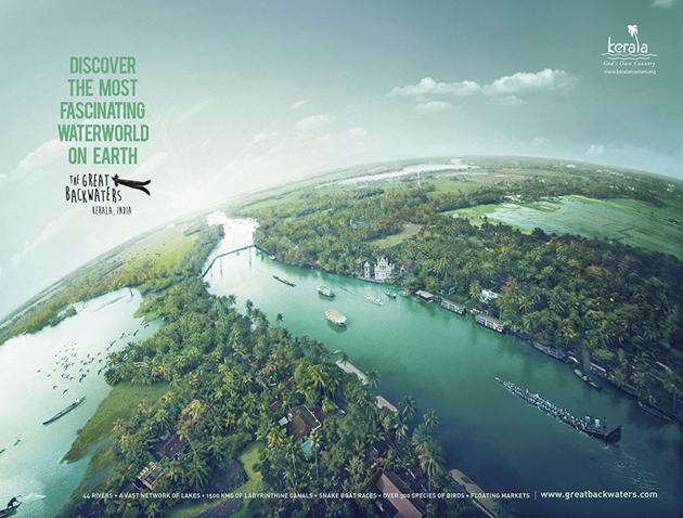 Great backwaters of Kerala