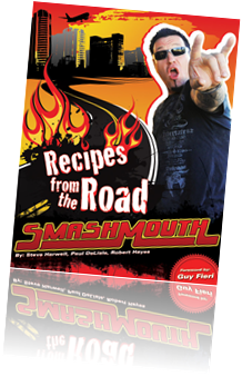 Immagine della copertina del libro Recipes from the Road with SmashMouth