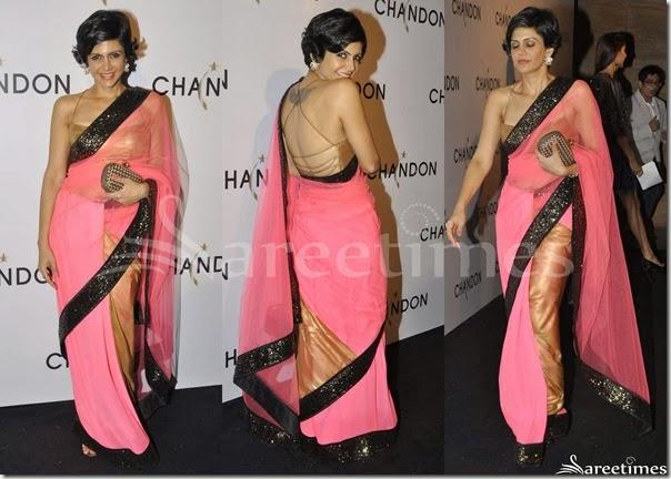 Mandira_Bedi_Pink_Net_Saree