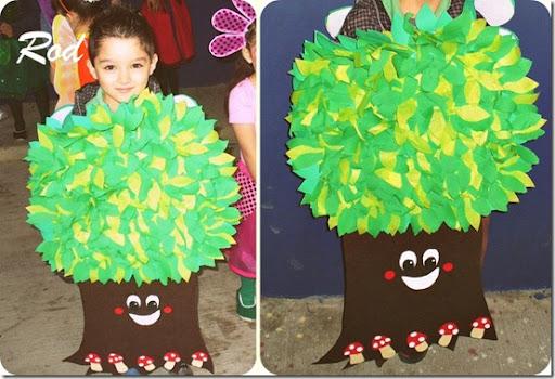 Como hacer un disfraz de arbol para niño - Imagui