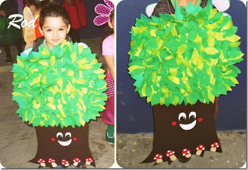 Cómo hacer un disfraz escolar de árbol | Jugar y colorear