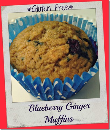 blueberry ginger muffins