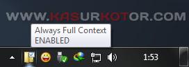 Menampilkan Full Konteks Menu di Windows 7