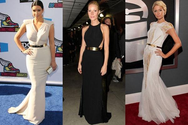 Kim-Kardashian-Gwyneth-Paltrow-Paris-Hilton-Cinto-Metal-Dourado