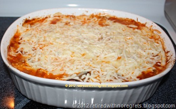 Baked Vegetarian Pasta - baked - Mozzarella cheese melted B