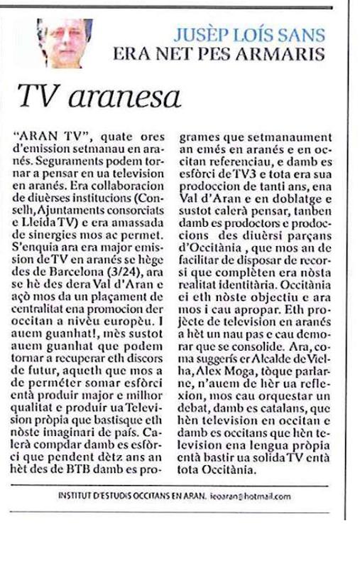 TV3 en Aran