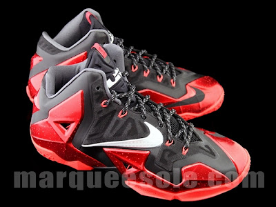 nike lebron 11 gr black red 4 03 New Photos // Nike LeBron XI Miami Heat (616175 001)