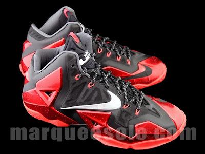 nike lebron 11 gr black red 4 03 New Photos // Nike LeBron XI Miami Heat (616175 001)