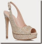 Miss KG Very High Sparkle Peep Toe Court