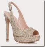 Miss KG Very High Sparkle Peep Toe Court
