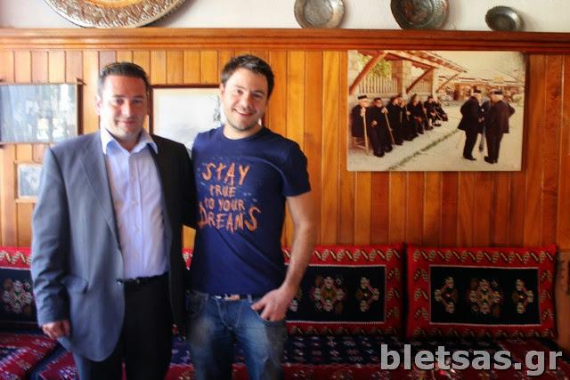 Στο ξενοδοχείο Εγνατία με τον Αντιδήμαρχο Μετσόβου, κο Στέργιο Ταλάρη.