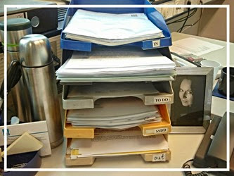 Mein Schreibtisch (Teilansicht)
