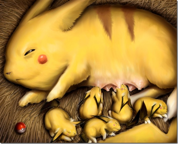 The Pikachu Mom by Dogsfather
