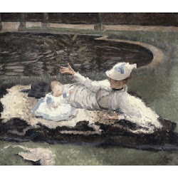 TIissot, James Jacques ~Mrs. Newton with a Child by a Pool~