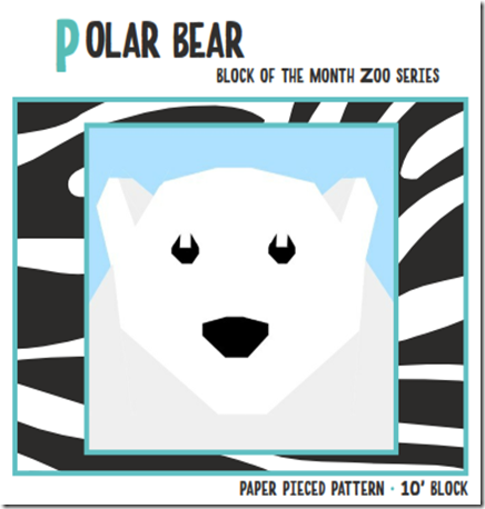 Polar Bear March Zoo Animal Block by Quiet Play